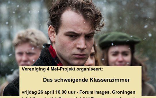Das Schweigende Klassenzimmer (film) - vrijdag 26 april 16.00u Forum Images. Inleiding Judith Sargentini.