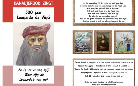 """Leonardo da Vinci 500 jaar"" van projectkoor Kanaljerood"